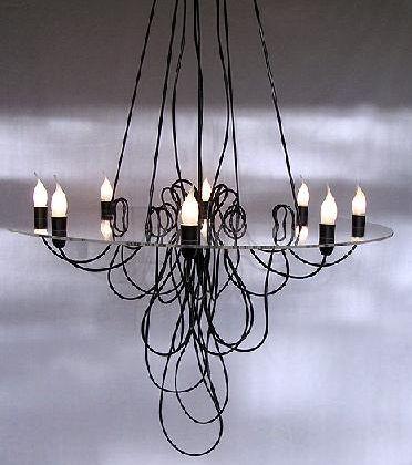 spaghetti chandelier