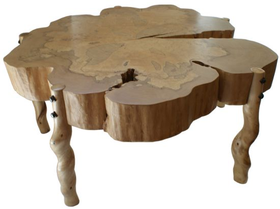 spalted maple wood sassafras coffee table