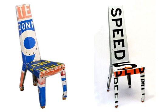 speed limit sign transit chair