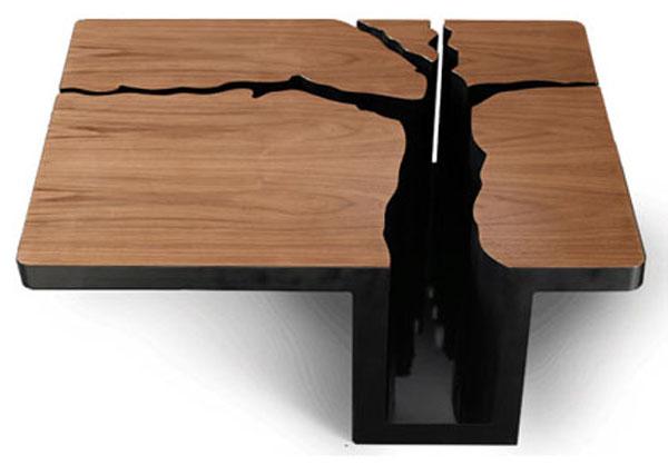 Split Tree Wooden Coffee Table