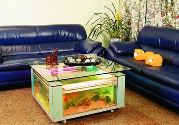 Square Coffee Table Aquarium Tank