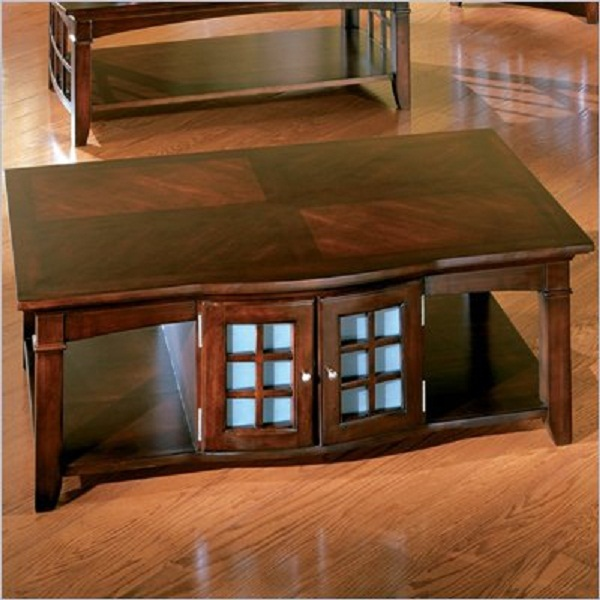 Standard Glasgow Cherry Box Coffee Table And End Table Set