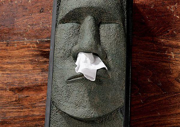 Stone Statue Tissue Box