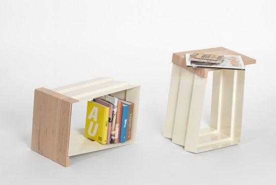 stool bookshelf 1