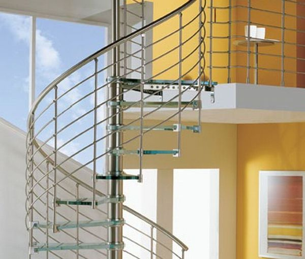 Stylish glass staircase
