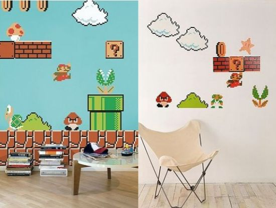 Delightful Show Off Your Geeky Fervor Super Mario Bros Wall Decals