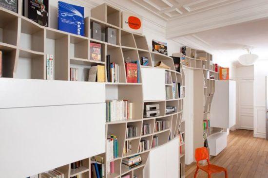 swollen bookshelf