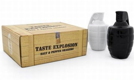 taste grenade salt and pepper shakers