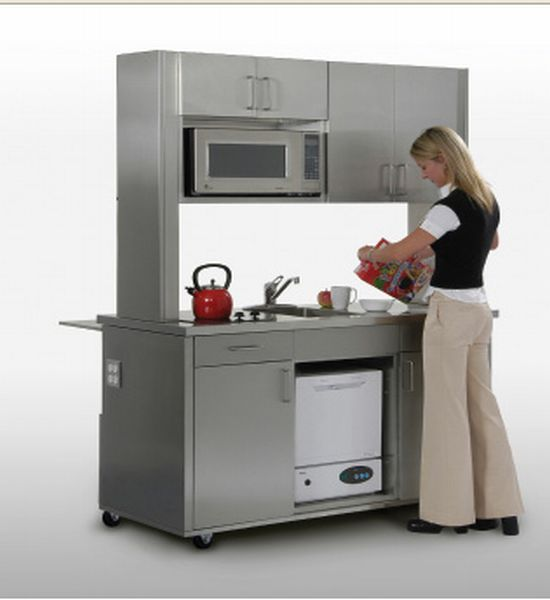 For Small Urban Apartments Where Space Is Always A Problem, Here Is A  Stylish Portable Kitchen. The Temp Kitchen By Dwyer Is An Innovative Kitchen  That Can ...
