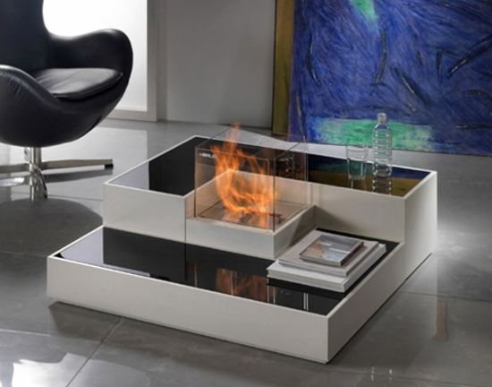 tetris fireplace