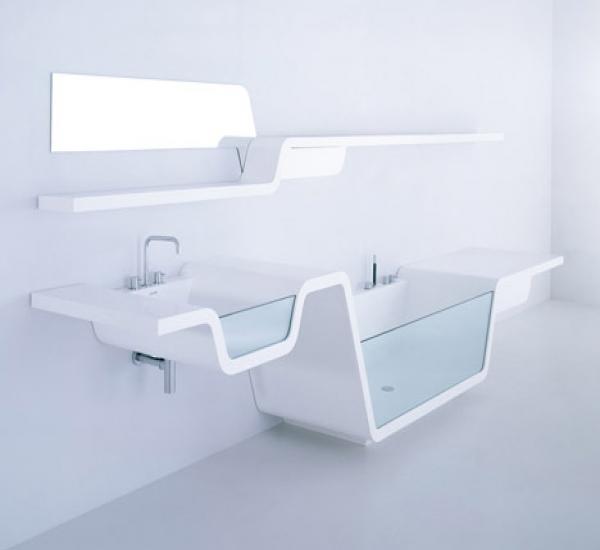 The ultra-modern Ebb Bathroom