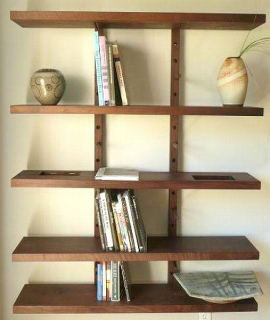 thru block wall mounted shelving system hometone. Black Bedroom Furniture Sets. Home Design Ideas