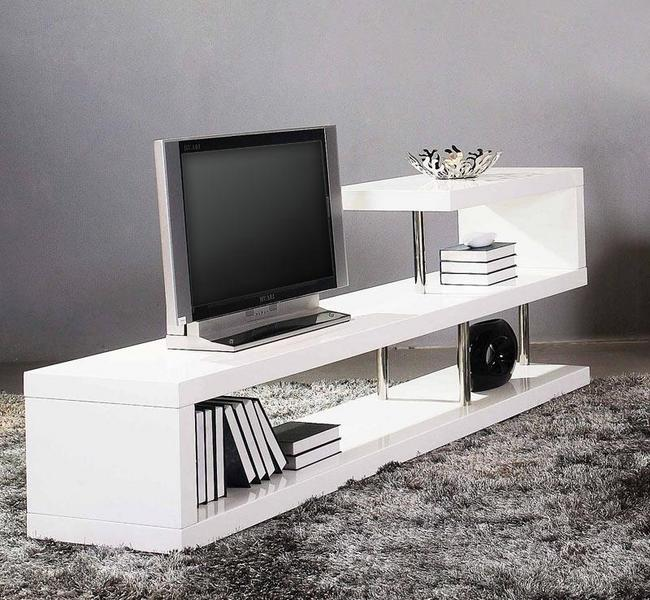 White TV stands for modern homes - Hometone