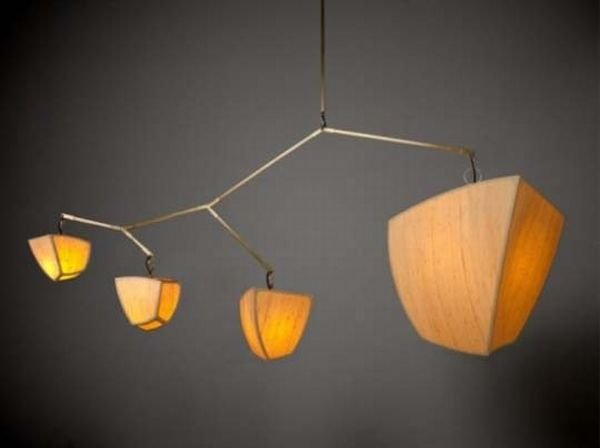 Traditional hanging lamps of bamboo