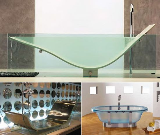 transparent bathtubs