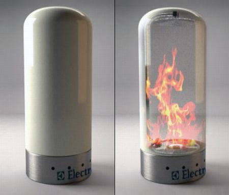 transparent fireplace