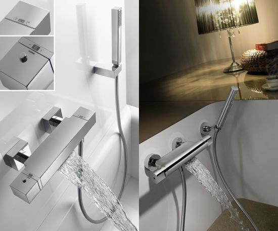 tres thermostatic tub shower faucet waterfall 5