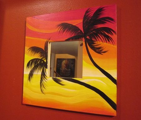 tropical sunset mirror