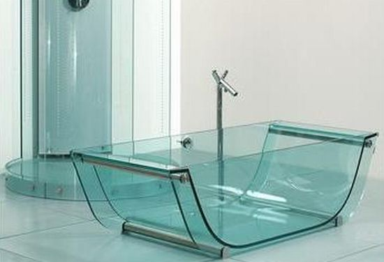 tulip glass bathtub
