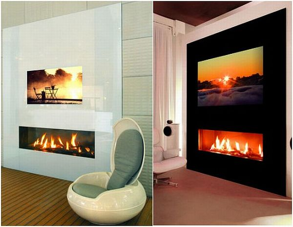 TV cabinets with fireplace