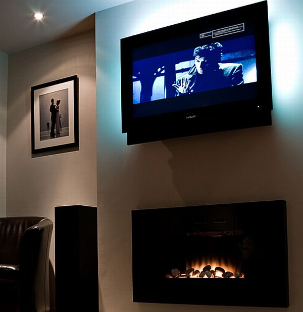 TV Mounted fireplace