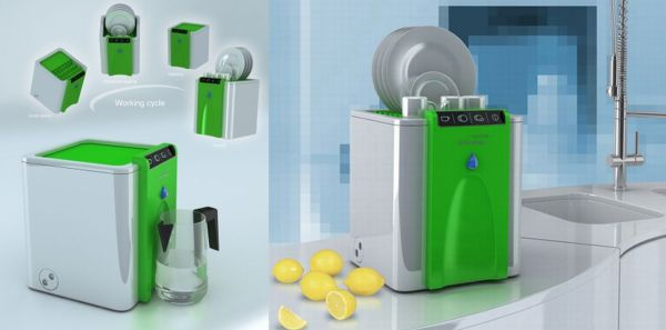 Ultrasonic portable dishwasher