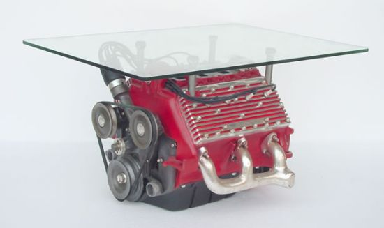 unbranded v8 engine coffee table