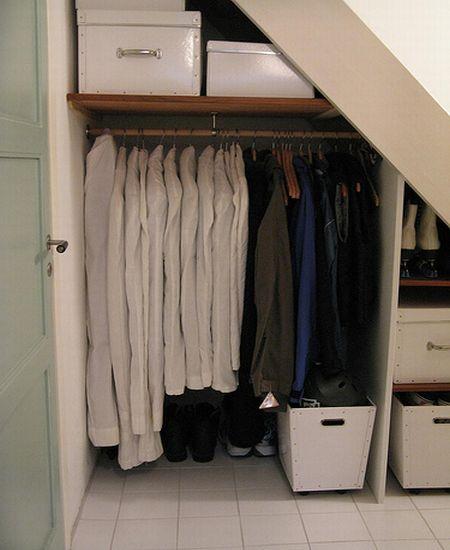 under the stairs storage