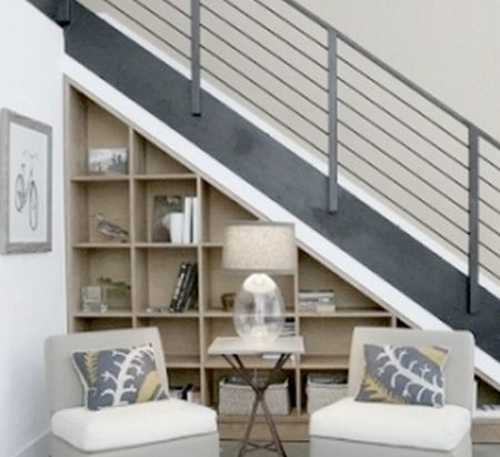 Under stair shelving