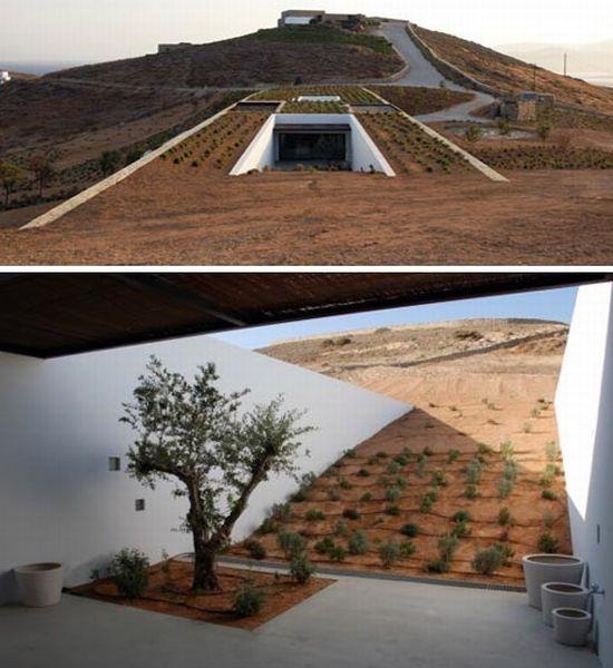 underground stone desert home