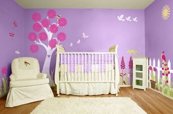 Use of Wall Stencils in  kid's room