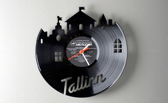 vinyl record clocks2