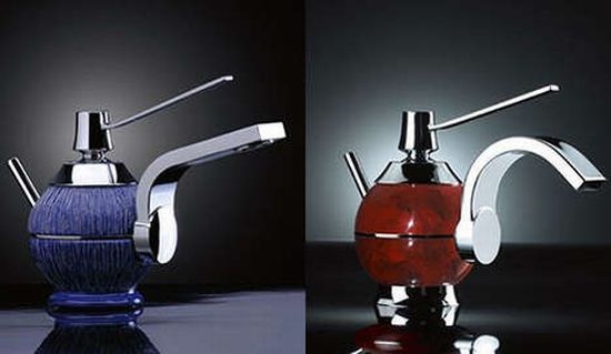 water faucets as art