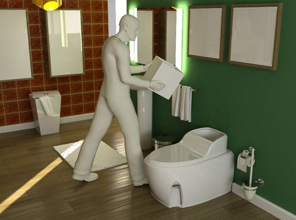 Waterless Toilet