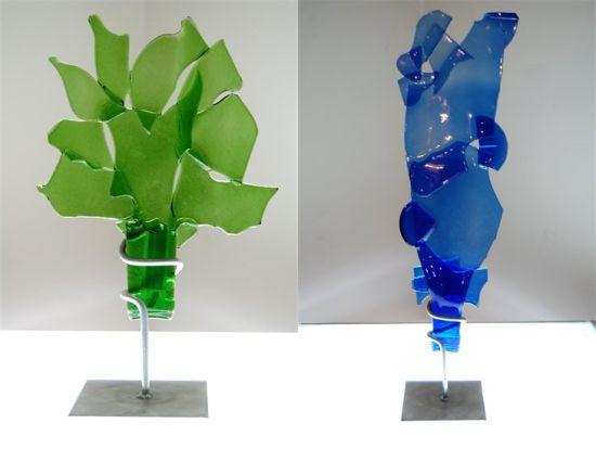 wine art sculpture