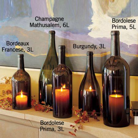 wine bottle hurricane candle holders 2