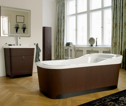 Wooden bathroom design by Duravit