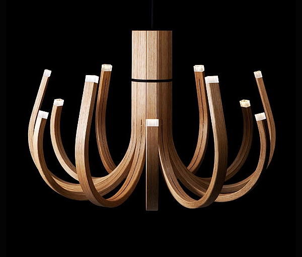 Wooden Chandelier by Mikko Paakkanen
