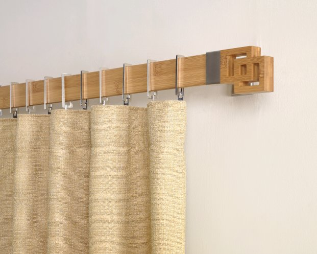 wooden curtain rods for eco chic interiors   hometone