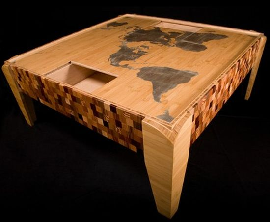 world map puzzle table
