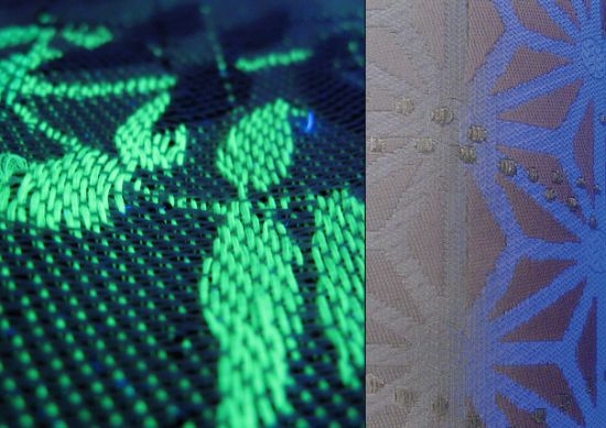 woven light fabric emits light changes color as well