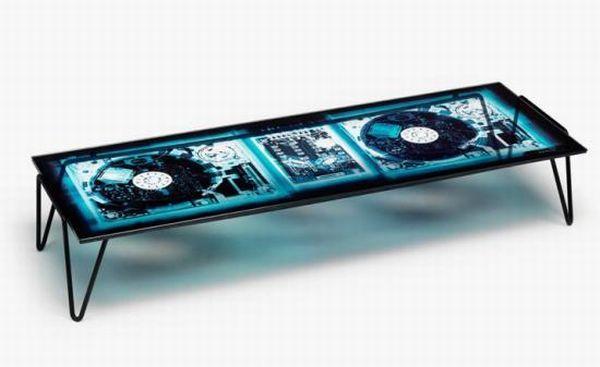 Xradio 2 Disc cocktail table