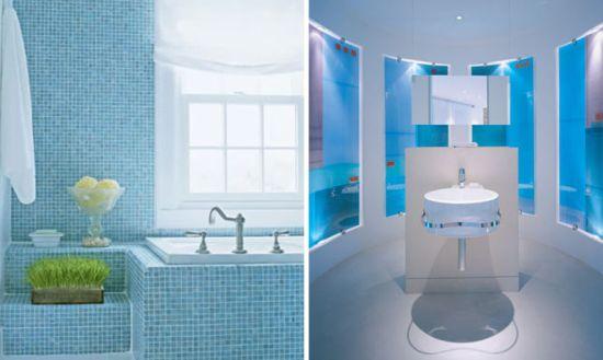 Color Glory Blue Bathroom Delight Hometone