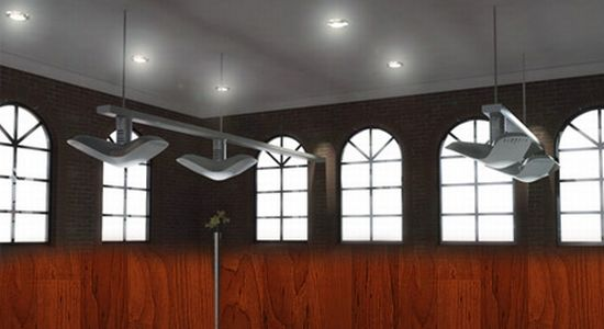 ecofriendly classroom features lighting ventilation and