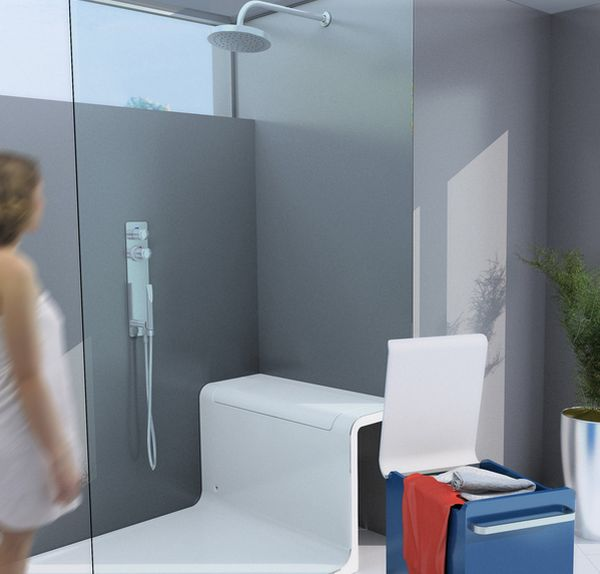 Hide and seat shower an easy to use and practical shower for Home automation shower