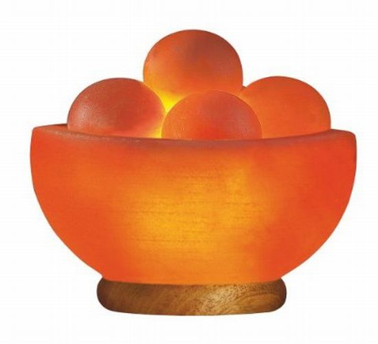 Himalayan salt bowl lamp with massage balls - Hometone - Home Automation and Smart Home Guide