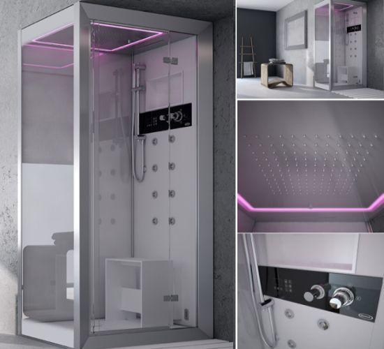 Hi tech shower unit for lavish interiors hometone home for Home automation shower