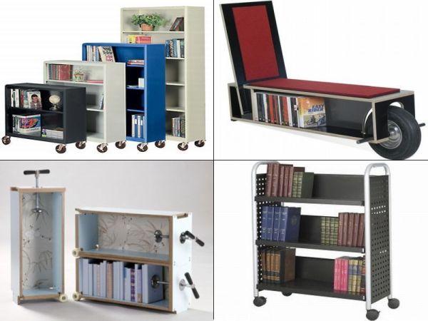 bookshelf on wheels 10 best portable bookshelf designs for book rh hometone com portable library bookshelves Portable Greenhouse with Shelves