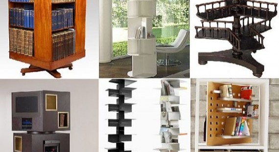 Rotating bookcase designs