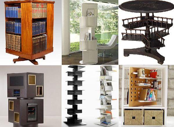 10 Stylishly Rotating Bookshelves